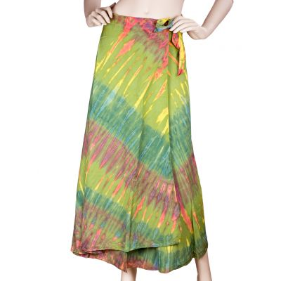 Green Tie Dyed Skirt